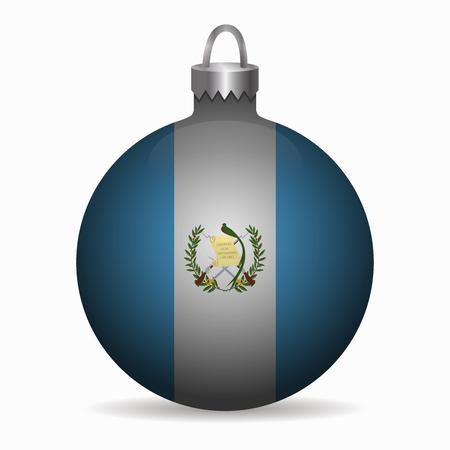 bandera de guatemala: bandera de Guatemala vector de la bola de Navidad Vectores