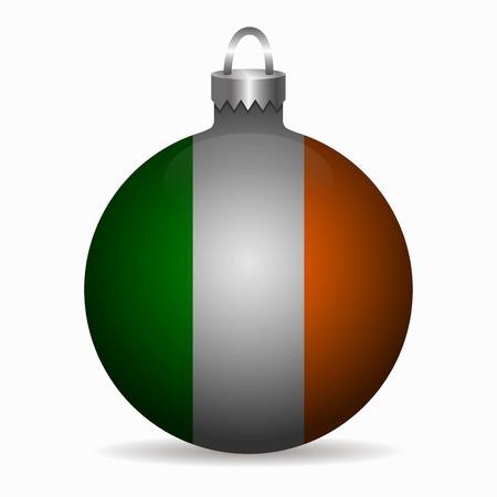 ireland flag: ireland flag christmas ball vector