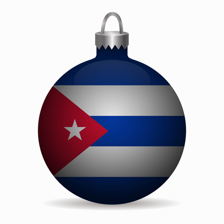 bandera de cuba: bandera de Cuba del vector bola de Navidad Vectores