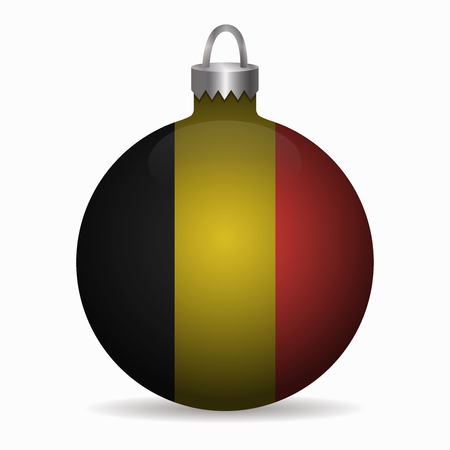 belgium flag: belgium flag christmas ball vector