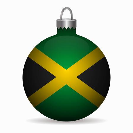 jamaica flag christmas ball vector