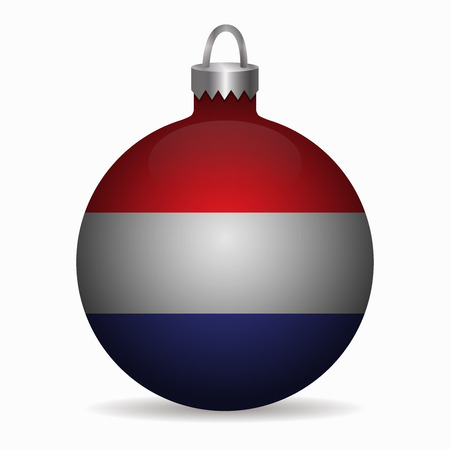 netherlands flag: netherlands flag christmas ball vector