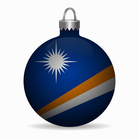 marshall islands flag christmas ball vector
