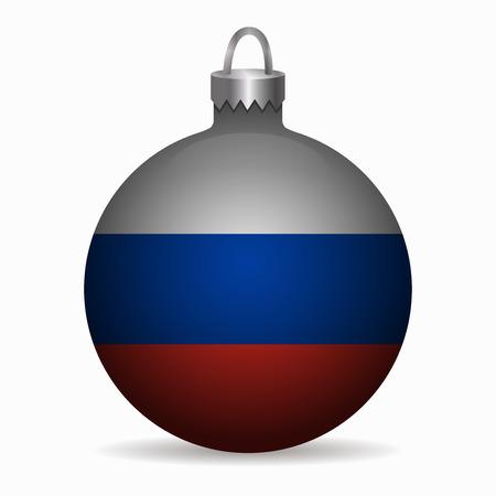 bandera rusia: Bandera de Rusia vector de la bola de Navidad