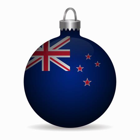 new zealand flag: new zealand flag christmas ball vector