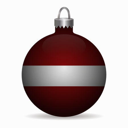 latvia flag: latvia flag christmas ball vector