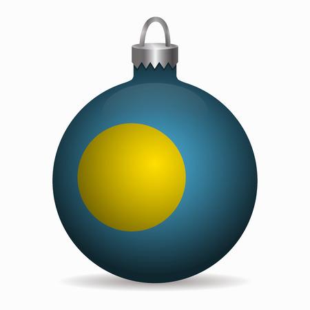 palau: palau flag christmas ball vector Illustration