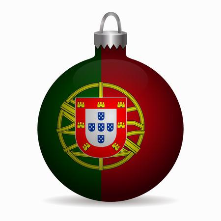 portugal flag: portugal flag christmas ball vector