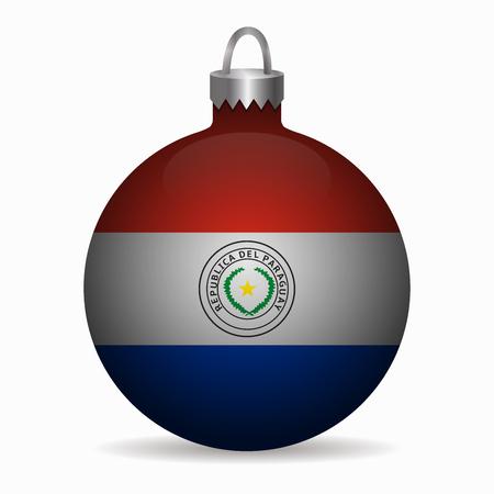 bandera de paraguay: bandera de Paraguay vector de la bola de Navidad