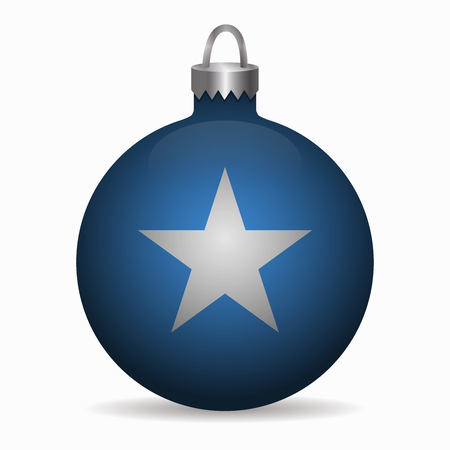 somalia: somalia flag christmas ball vector Illustration