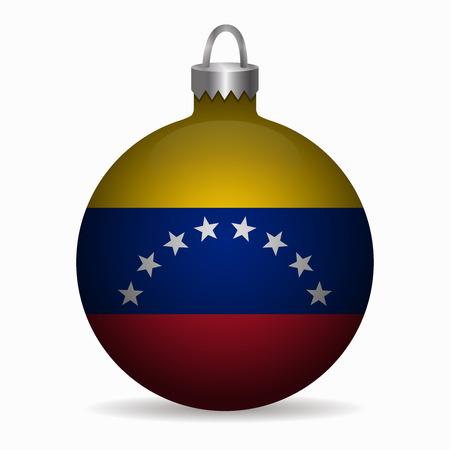 bandera de venezuela: bandera de Venezuela vector de la bola de Navidad