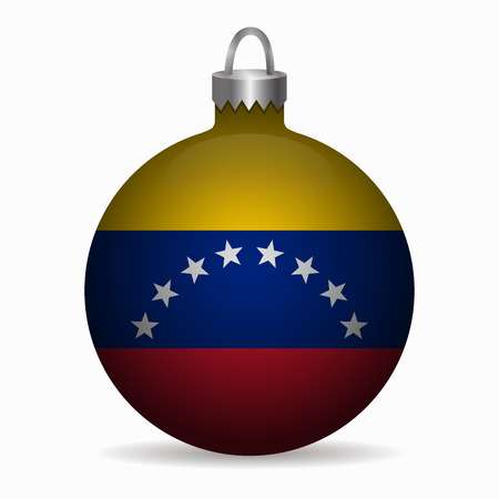 venezuela: venezuela flag christmas ball vector
