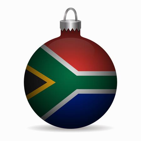 south africa flag: south africa flag christmas ball vector