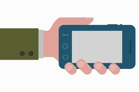smartphone hand: hand and smartphone