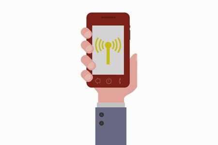 smartphone hand: hand holding smartphone wireless