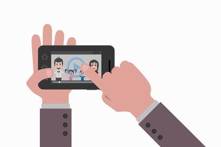 watch video: smartphone watch video