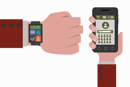 smart phone: smart phone and smart watch social networks
