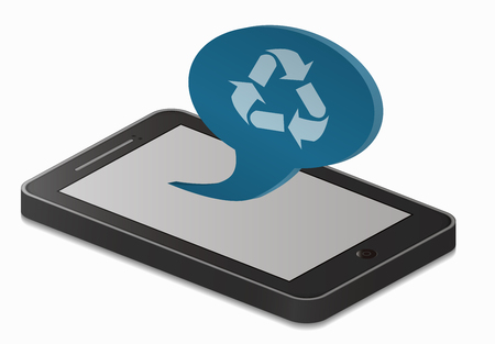 recycling: smartphone and recycling Illustration