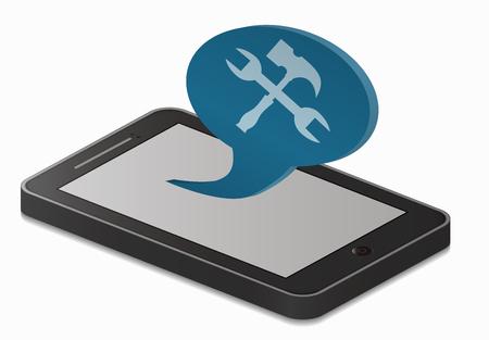 configuration: smartphone and configuration Illustration
