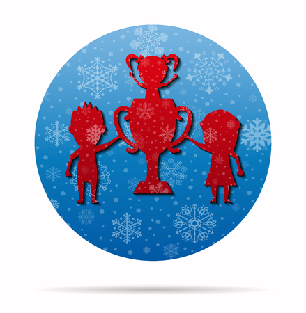 champion family christmas icon in circle
