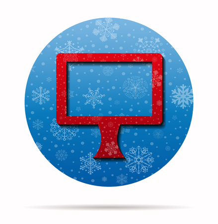 display christmas icon in circle