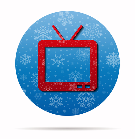 tv christmas icon in circle