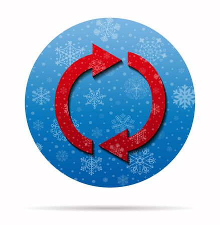flèche double: double arrow christmas icon in circle
