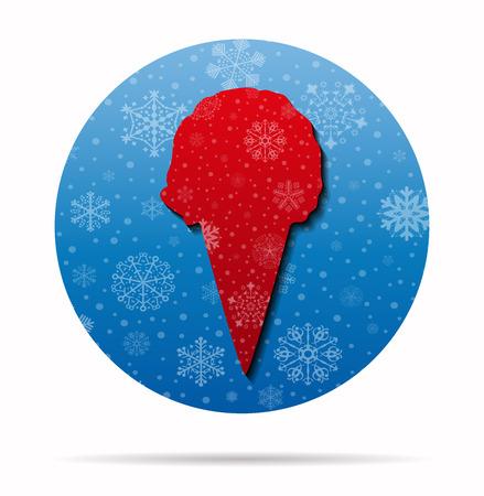 cornet: ice cream cornet christmas icon in circle Illustration