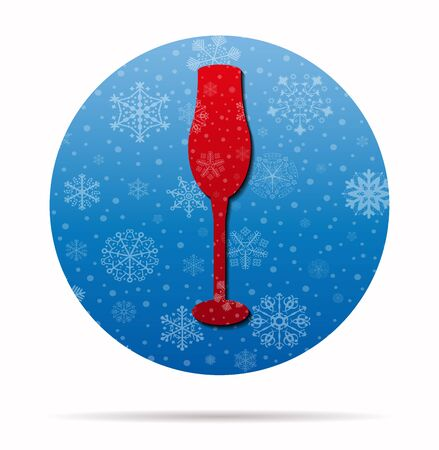 cup christmas icon in circle Vectores