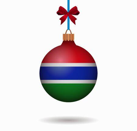 gambia: isolated christmas ball gambia Illustration