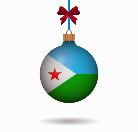 djibouti: isolated christmas ball djibouti