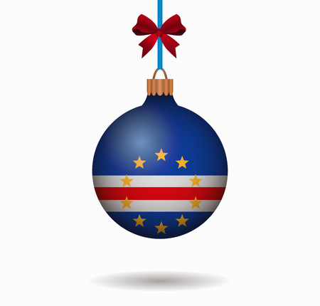 isolated christmas ball cape verde