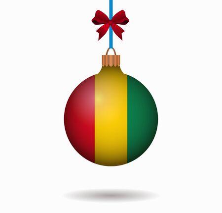 guinea: isolated christmas ball guinea Illustration