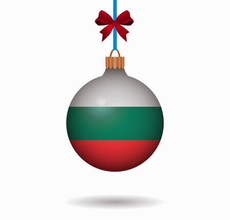 isolated christmas ball bulgaria