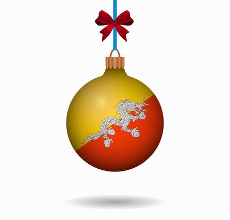 bhutan: isolated christmas ball bhutan