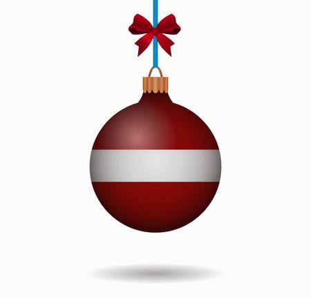 latvia: isolated christmas ball latvia