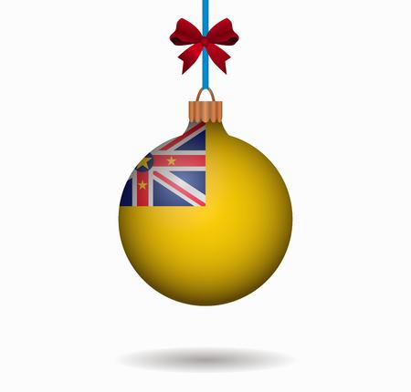 niue: isolated christmas ball niue Illustration