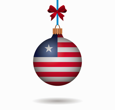 isolated christmas ball liberia Illustration
