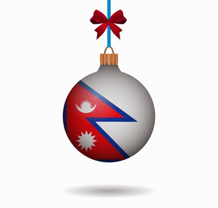 isolated christmas ball nepal Illustration