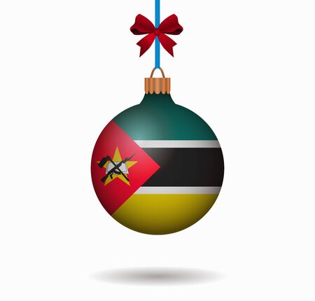 isolated christmas ball mozambique