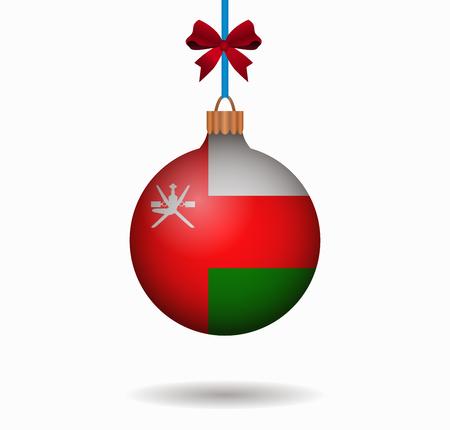 oman: isolated christmas ball oman