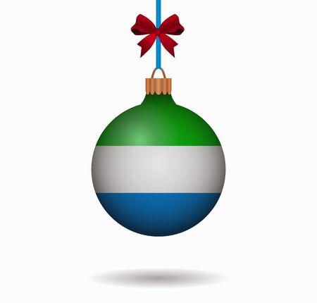 isolated christmas ball sierra leone Illustration