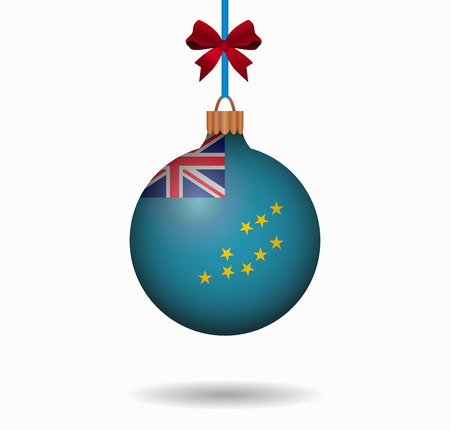 isolated christmas ball tuvalu Illustration