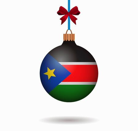south sudan: isolated christmas ball south sudan