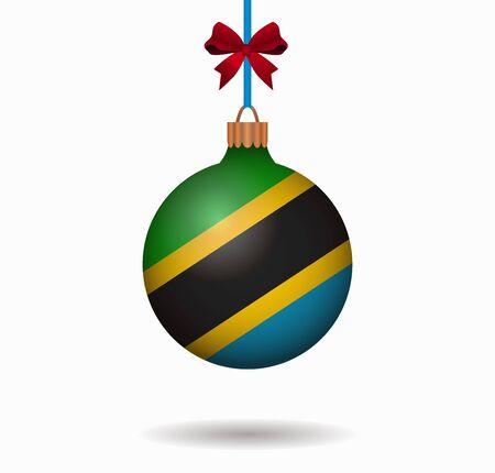 tanzania: isolated christmas ball tanzania Illustration