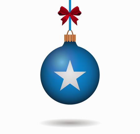 isolated christmas ball somalia