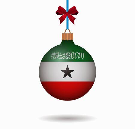 somaliland: isolated christmas ball somaliland