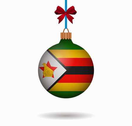 zimbabwe: isolated christmas ball zimbabwe Illustration