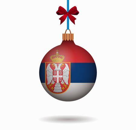 serbia: isolated christmas ball serbia