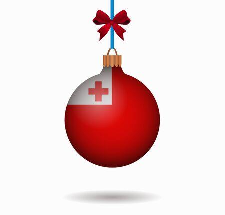 tonga: isolated christmas ball tonga